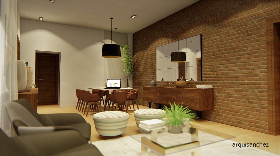 Vista 3d salón