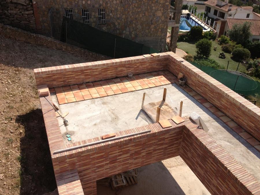 Vista Alzada terraza en proceso
