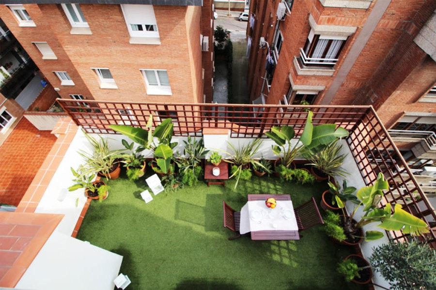 Vista cenital de la terraza