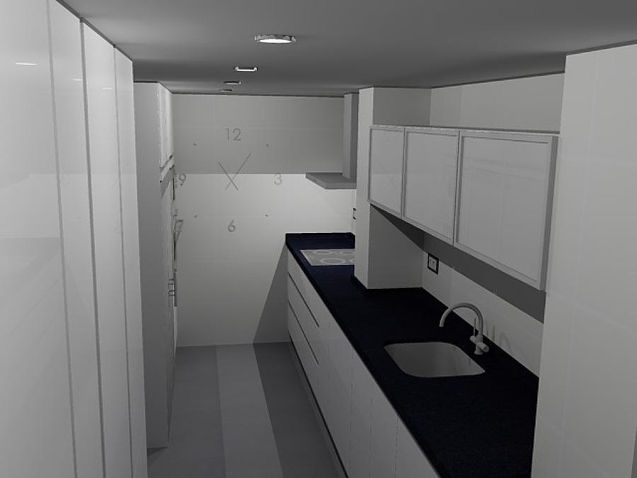 Vista cocina en 3D