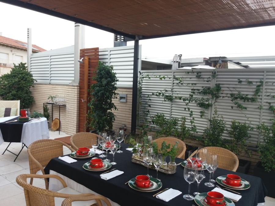 Vista comedor terraza