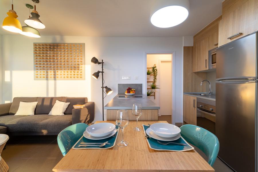 vista de cocina salón comedor