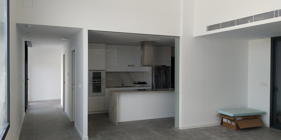 Vista de la cocina desde el salón