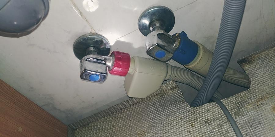 Vista de la instalacion del lavavajillas