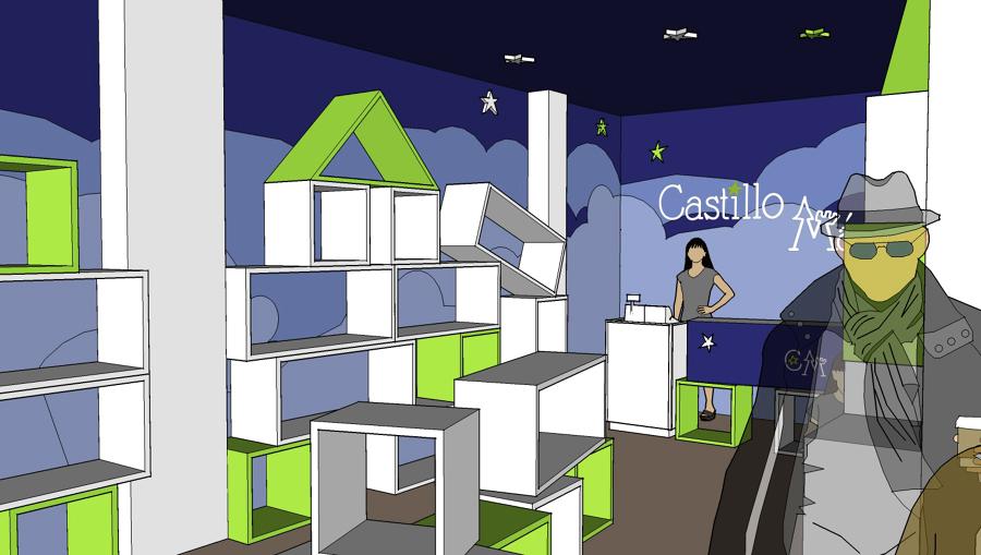 Vista de la tienda generada en 3D