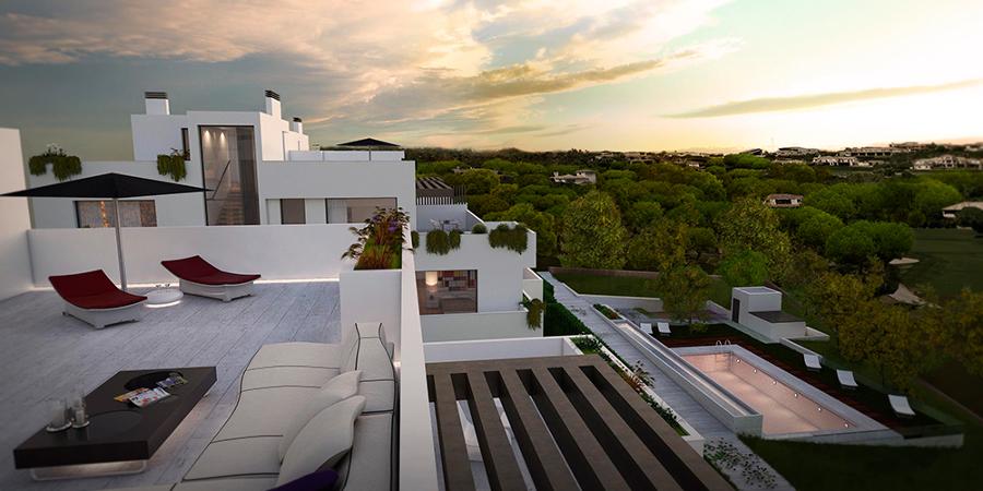 Vista de las terrazas