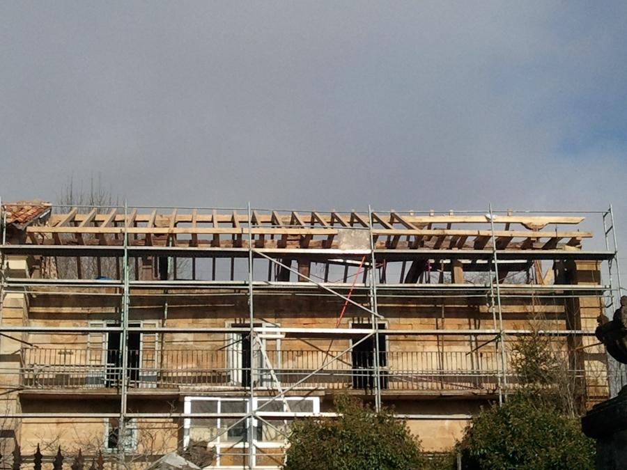 Vista de montaje de estructura de cubierta