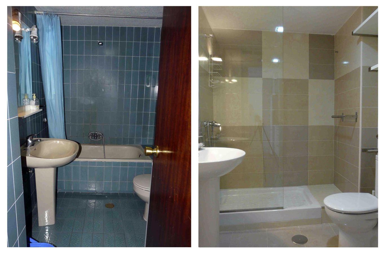 Foto vista del ba o antes y despu s de la reforma de for Bano de color antes y despues