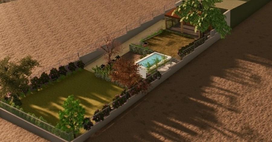 Vista del sistema de terrazas proyectado