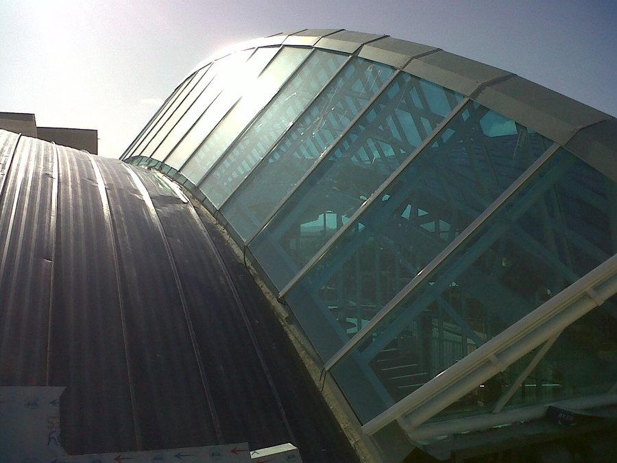 Vista del techo.