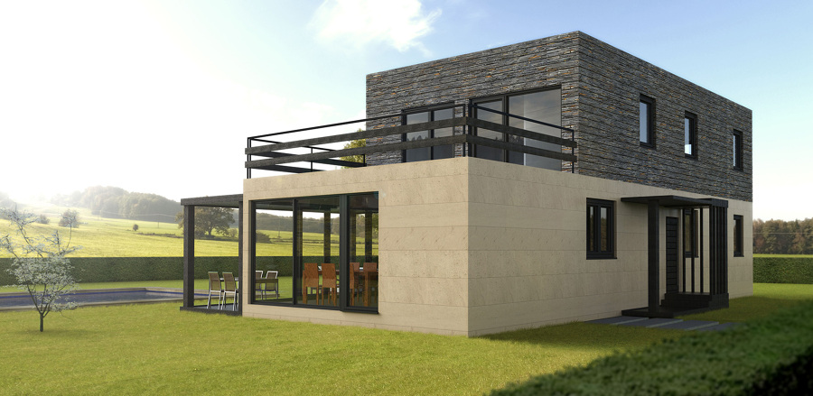 Casa cube de 175 m2 25 m2 de terraza ideas for Construccion de casas en terrazas