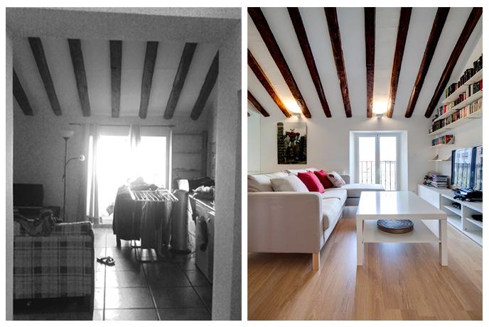 Vista desde acceso antes y después.