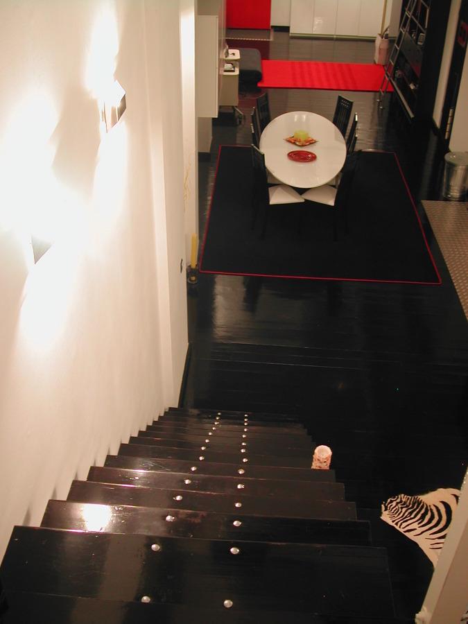 vista desde la escalera al dormitorio
