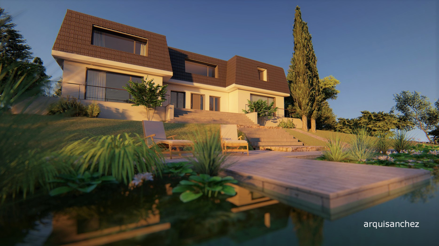 Vista desde la piscina naturalizada