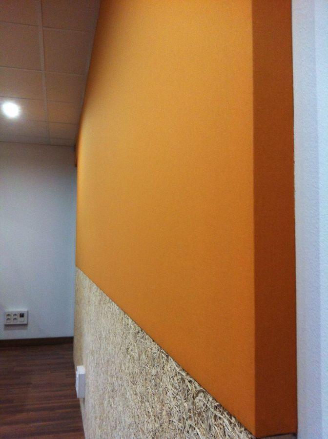 Vista detalle pared lateral y techo