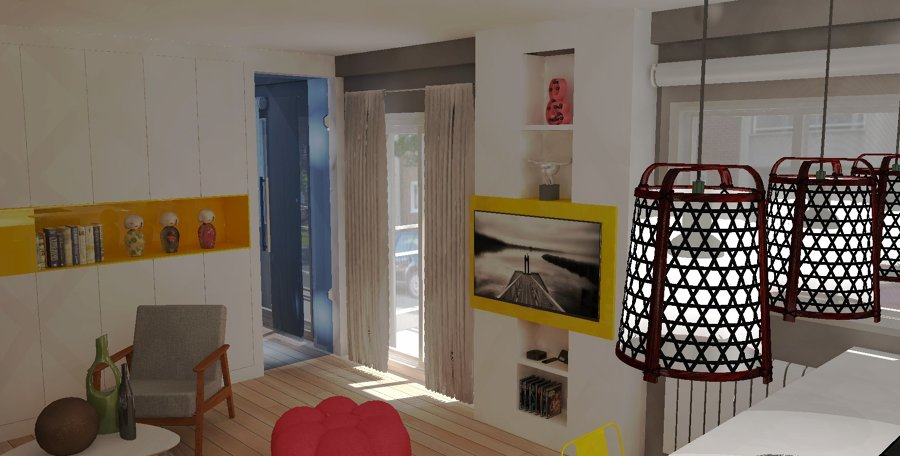 Vista en Detalle Mobiliario a Medida Salón