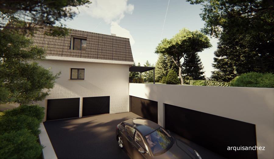 Vista entrada garage