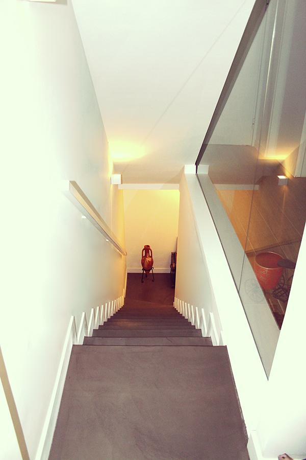 Vista escalera microcemento