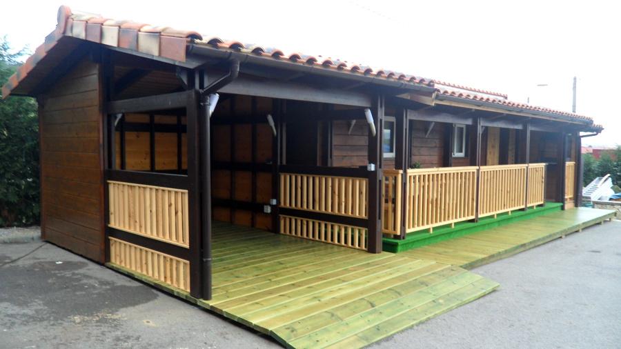 Vista exterior vivienda prefabricada