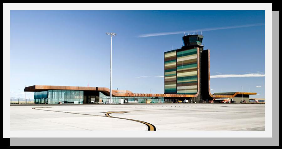 Vista general Aeropuerto Lleida-Alguaire