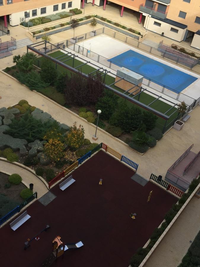 Vista general de las zonas comunes del patio interior