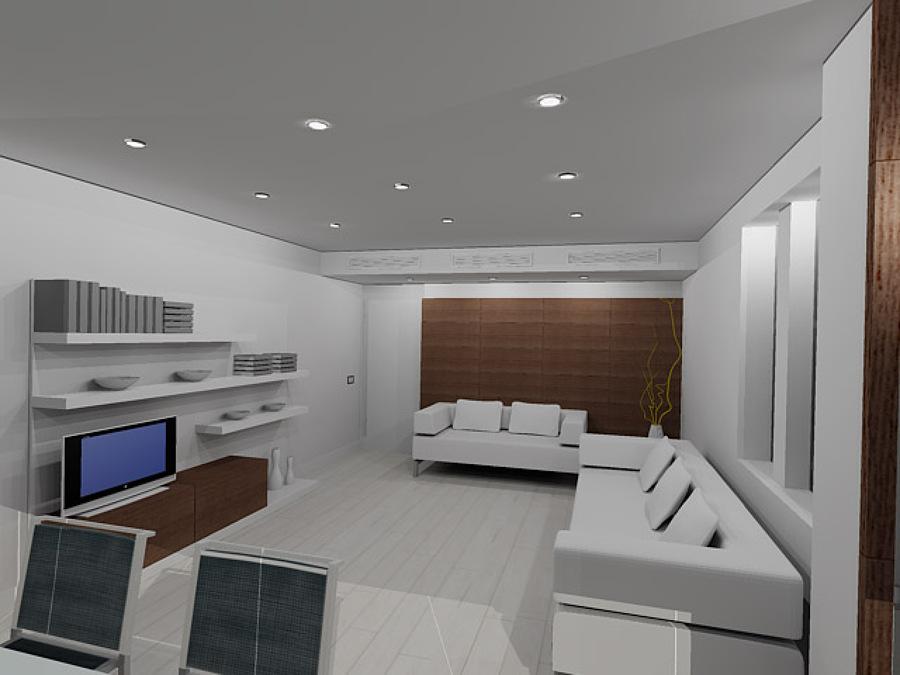 Vista general de salon en 3D