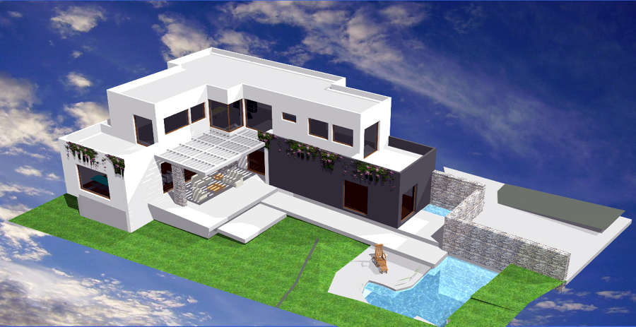 foto interior vivienda piscina: