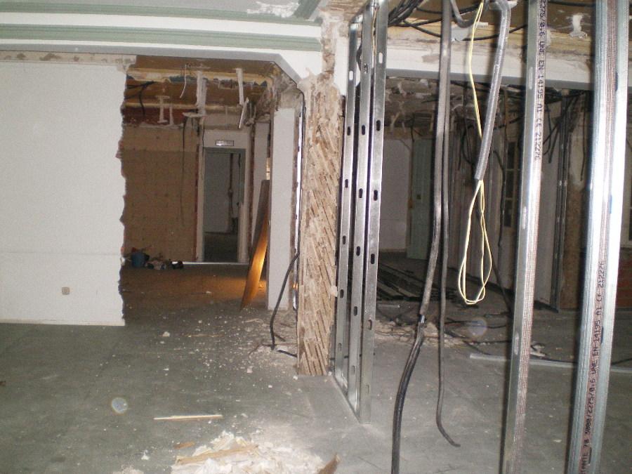 Vista interior de las obras