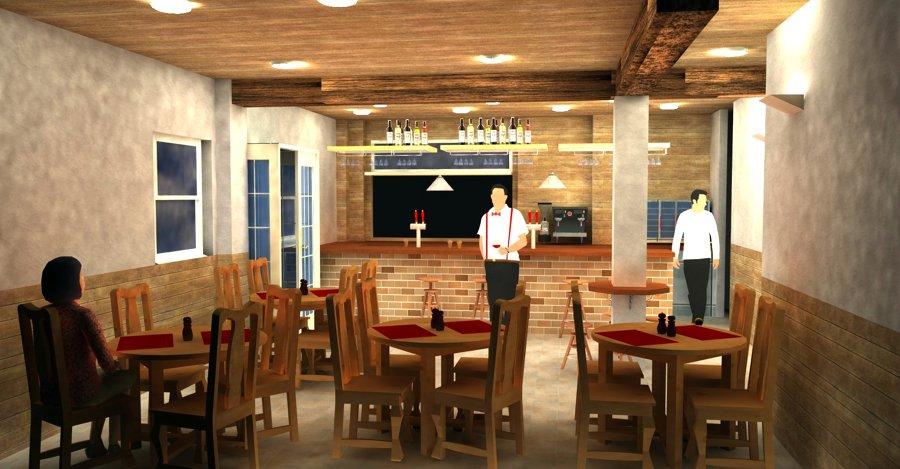 Vista interior del Bar