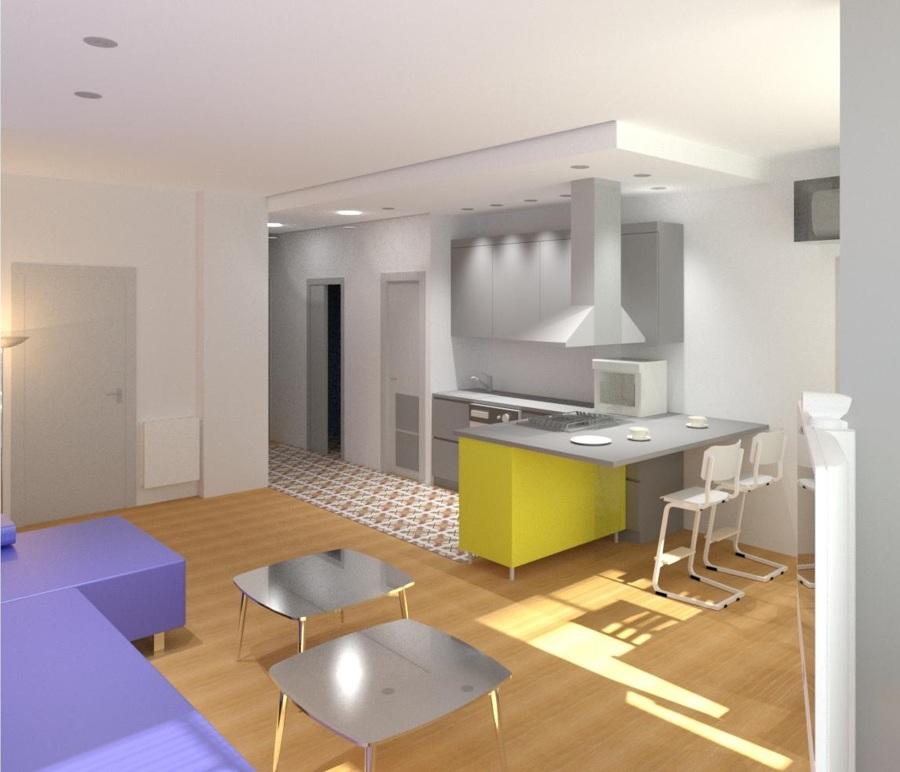 Vista Interior desde Sala-cocina