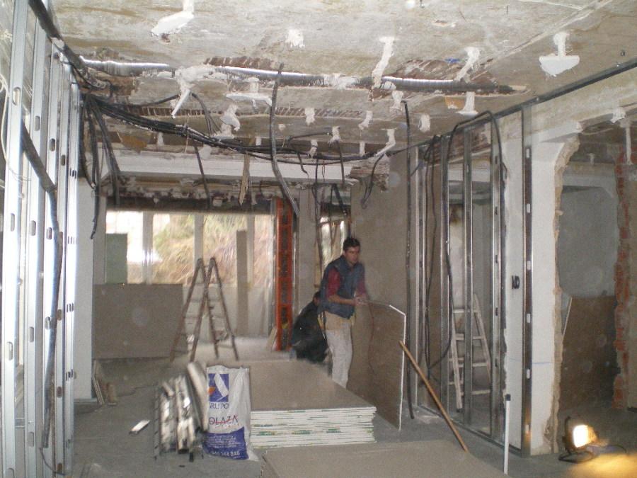 Vista interior durante las obras