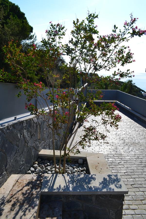 Vista jardinera entrada