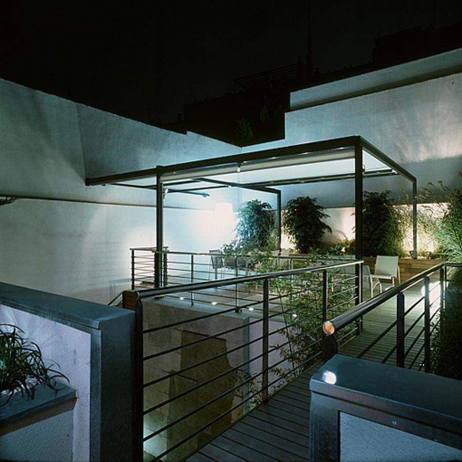 Vista nocturna - Terraza sueprior