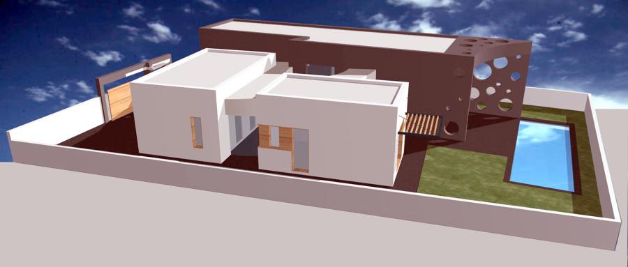 Vista norte Casa Patio