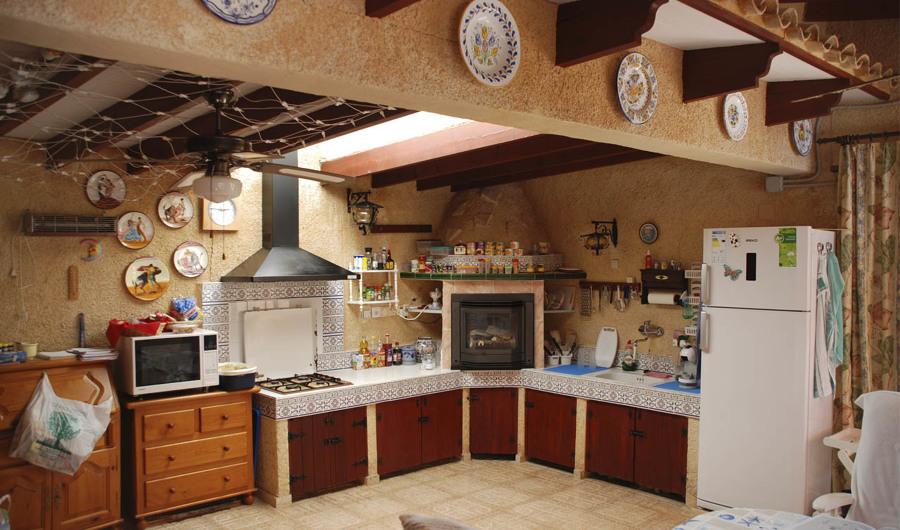Vista original de la cocina