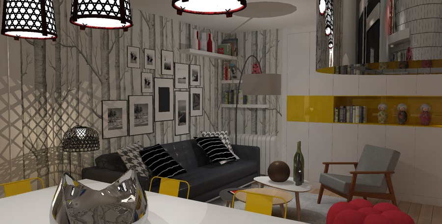Vista Parcial diseño salón