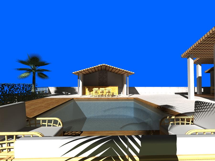 Vista piscina dos
