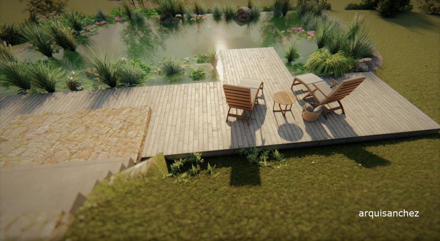 Vista piscina naturalizada