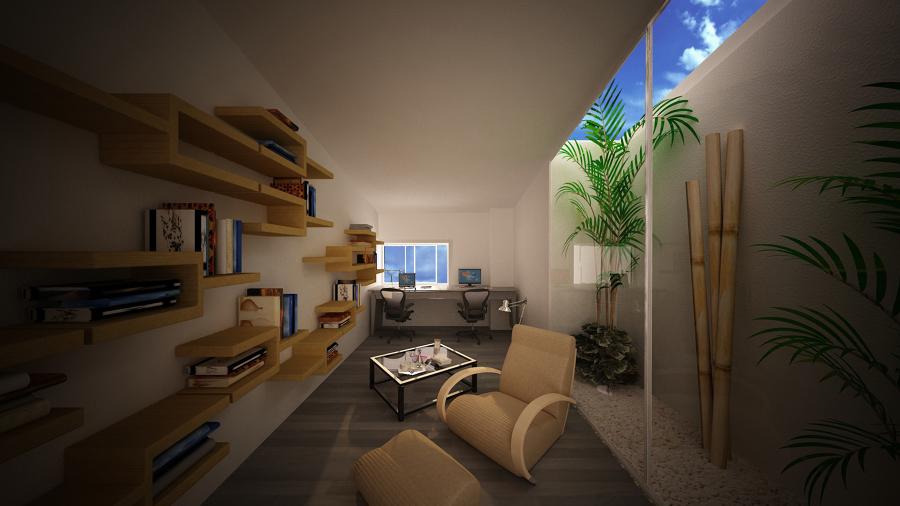 Vista sala de relajación y estudio