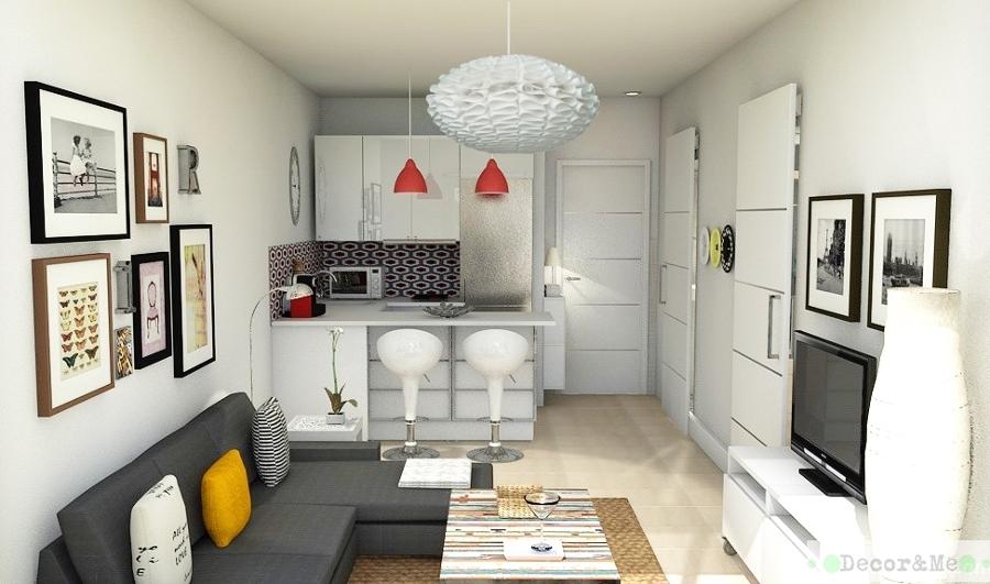Foto vista sal n con cocina abierta al fondo de decor me for Cocina y salon integrados