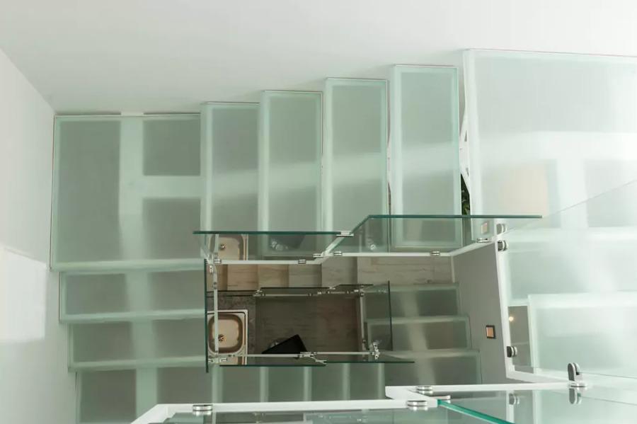 Vista superior de escalera
