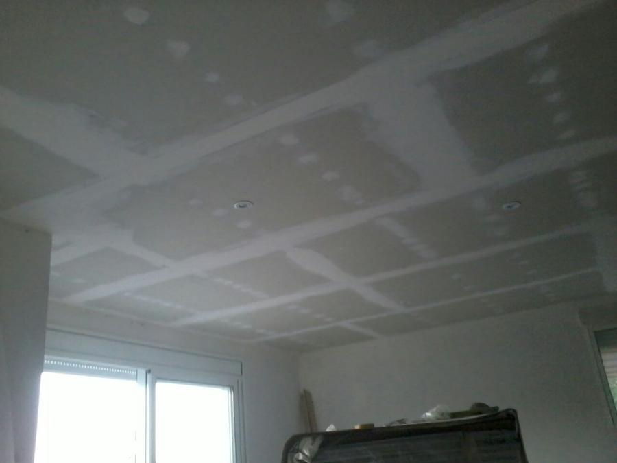 Foto vista techo pladur con iluminaci n de tu casa - Techos para garajes ...