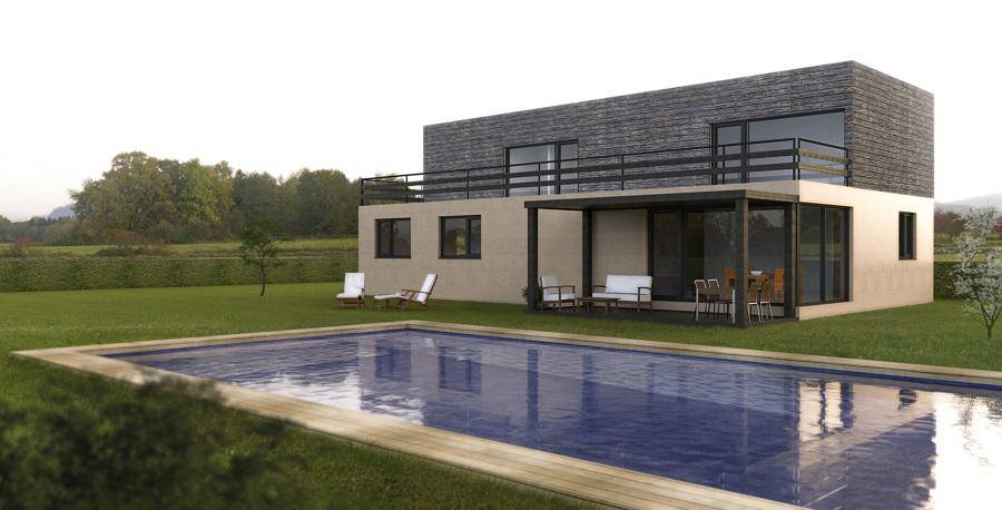 Casa cube de 250 m2 50 m2 de terraza en la coru a - Casas prefabricadas coruna ...