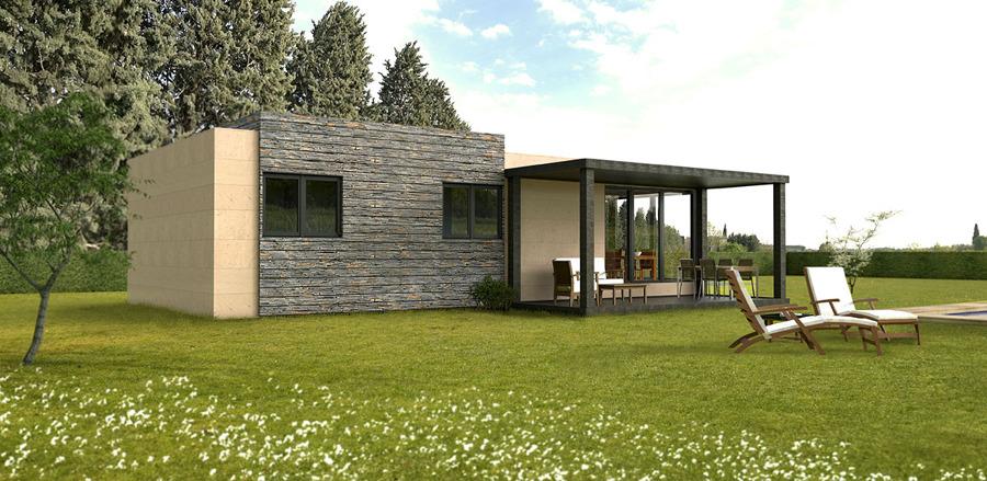 Casa cube de 75 m2 ideas construcci n casas prefabricadas - Precio m2 construccion chalet ...