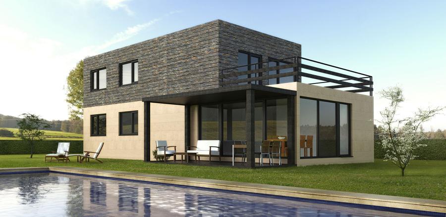 Casa cube de 175 m2 25 m2 de terraza ideas - Cube casas prefabricadas ...