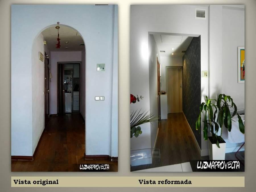 VISTAS COMPARATIVAS DE PASILLO DE ENTRADA