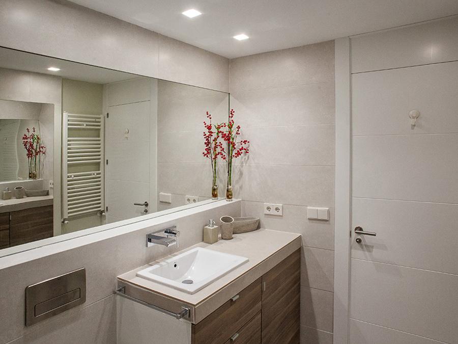 Baño mueble de lavabo de madera