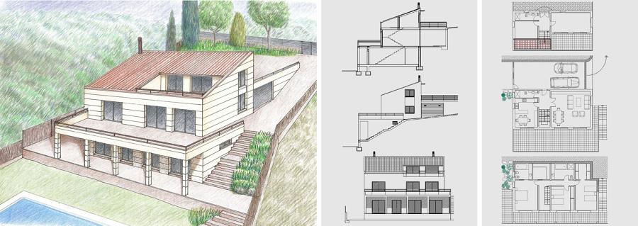 Vivienda escalonada ideas arquitectos for Construccion minimalista casas