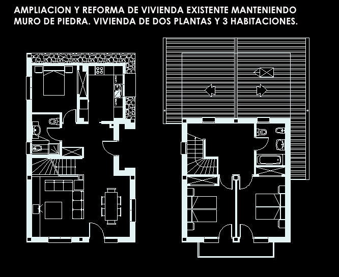 Foto vivienda unifamiliar de dos plantas de einza astur for Viviendas de dos plantas