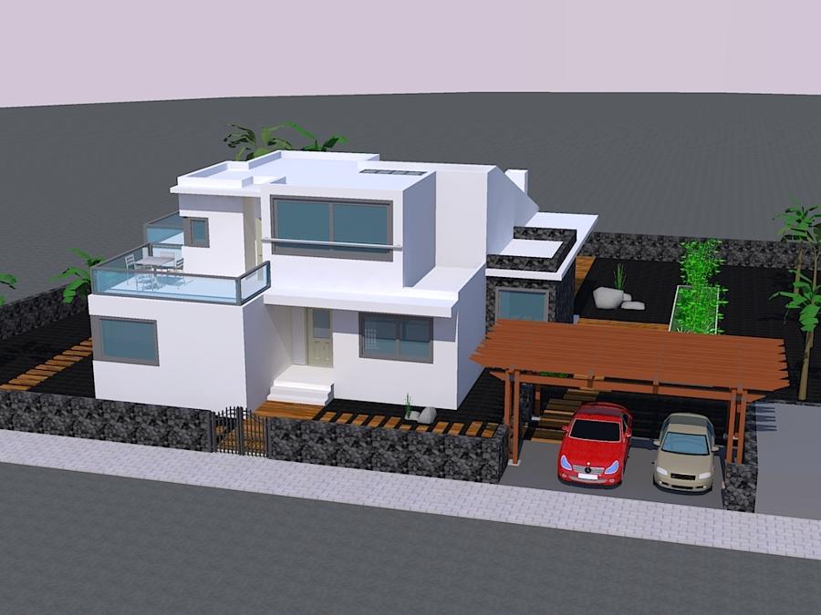 Foto vivienda unifamiliar en maguez fachada frontal de for Fachadas casas unifamiliares